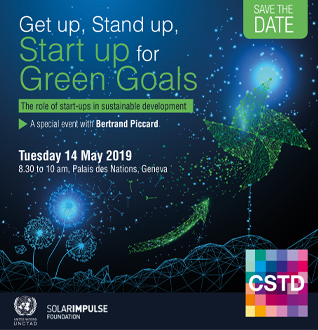 Get up, Stand up, Start-up for Green Goals – Special session with Bertrand Piccard
